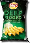 Lay's Deep Ridged Sour Cream & Onion Flavour