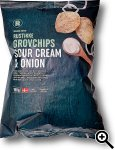 Rema 1000 Rustikke Grovchips Sour Cream & Onion
